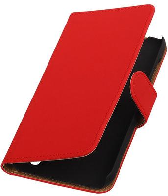 Hoesje voor Huawei Y625 - Effen Rood Booktype Wallet