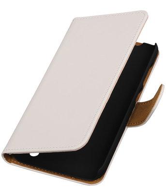 Hoesje voor Huawei Y625 - Effen Wit Booktype Wallet