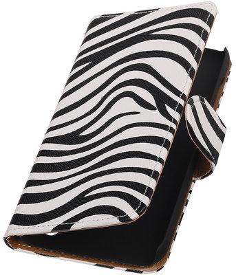 Hoesje voor Huawei Y625 - Zebra Booktype Wallet