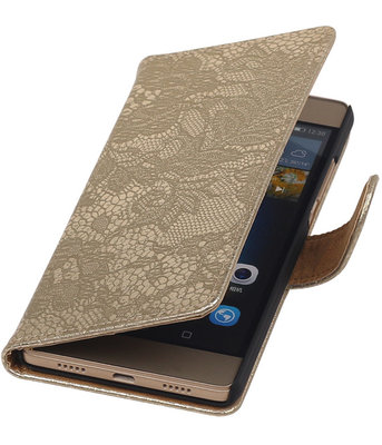 Hoesje voor Sony Xperia Z5 Compact - Lace Goud Booktype Wallet