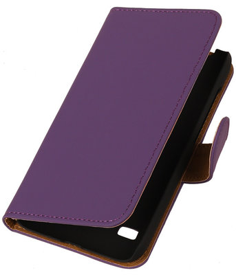 Paars Hoesje voor Huawei Ascend Y550 Book/Wallet Case/Cover