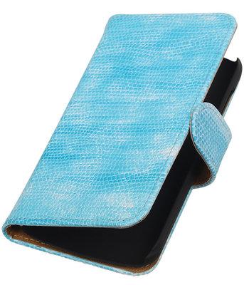 Hoesje voor Huawei Ascend Y540 Booktype Wallet Mini Slang Blauw