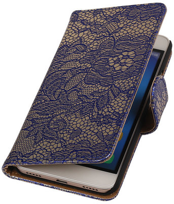Hoesje voor Huawei Honor 4A - Lace Blauw Booktype Wallet