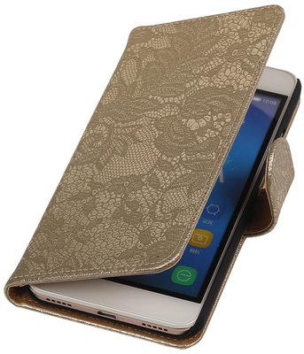 Hoesje voor Huawei Honor Y6 - Lace Goud Booktype Wallet