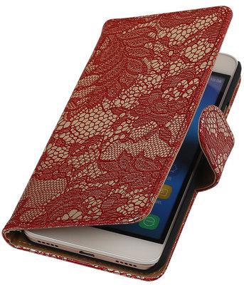 Hoesje voor Huawei Honor Y6 - Lace Rood Booktype Wallet