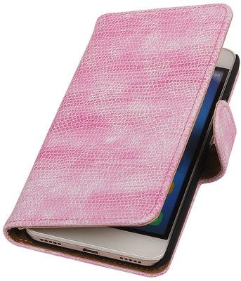 Hoesje voor Huawei Honor Y6 - Mini Slang Roze Booktype Wallet