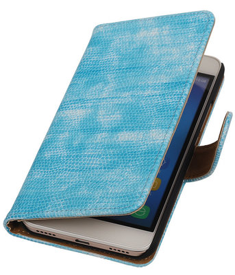 Hoesje voor Huawei Honor Y6 - Mini Slang Turquoise Booktype Wallet
