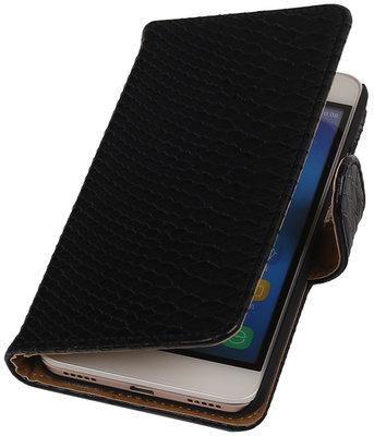 Hoesje voor Huawei Honor Y6 / 4A - Slang Zwart Booktype Wallet