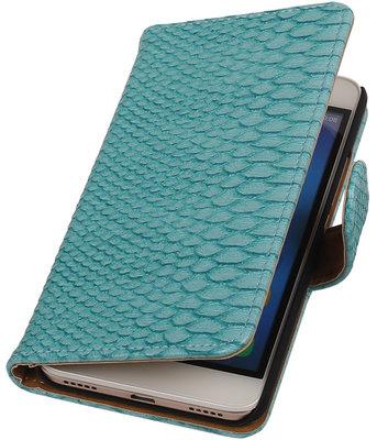 Hoesje voor Huawei Honor Y6 - Slang Turquoise Booktype Wallet