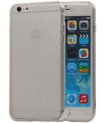 Transparant Wit Voor en Achter TPU Hoesje Apple iPhone 6/6s Plus