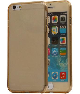 Transparant Goud Voor en Achter TPU Hoesje Apple iPhone 6/6s Plus