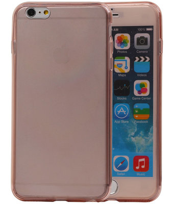 Transparant Roze Voor en Achter TPU Hoesje Apple iPhone 6/6s Plus