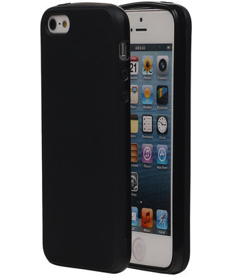 Apple iPhone 5/5S TPU Hoesje Zwart