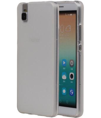 Huawei Honor 7i TPU Hoesje Transparant Wit