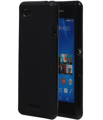 Hoesje voor Sony Xperia E3 TPU Zwart