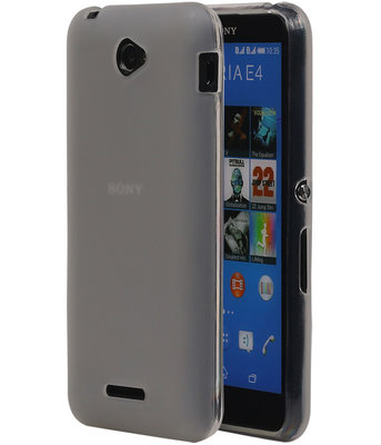 Hoesje voor Sony Xperia E4 TPU Transparant Wit