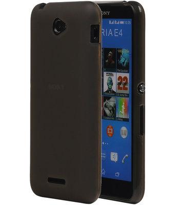 Hoesje voor Sony Xperia E4 TPU Transparant Grijs