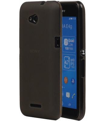Hoesje voor Sony Xperia E4g TPU Transparant Grijs