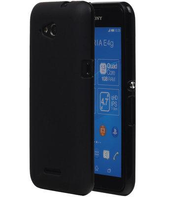 Hoesje voor Sony Xperia E4G TPU Zwart