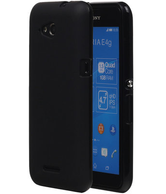 Sony Xperia E4G TPU Hoesje Zwart