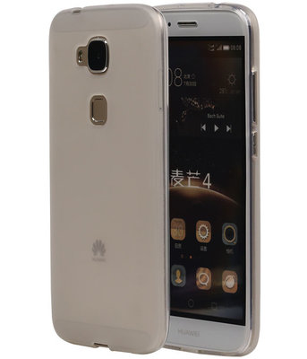 Hoesje voor Huawei G8 TPU Transparant Wit