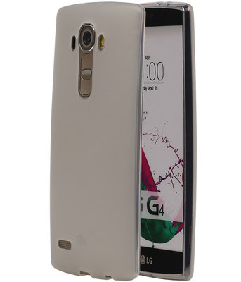 Hoesje voor LG G4 TPU Transparant Wit