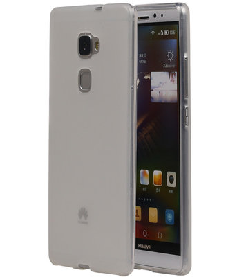 Hoesje voor Huawei Ascend Mate 7 TPU Transparant Wit