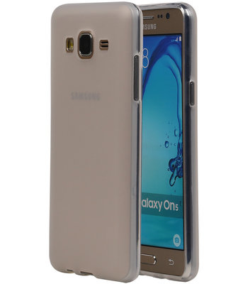 Hoesje voor Samsung Galaxy On5 TPU Transparant Wit