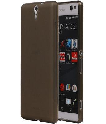 Hoesje voor Sony Xperia C5 Ultra TPU Transparant Grijs
