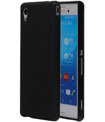 Hoesje voor Sony Xperia M4 Aqua TPU Zwart