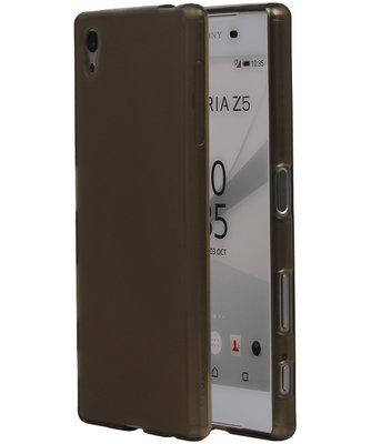 Hoesje voor Sony Xperia Z5 TPU Transparant Grijs