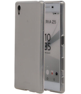 Hoesje voor Sony Xperia Z5 TPU Transparant Wit