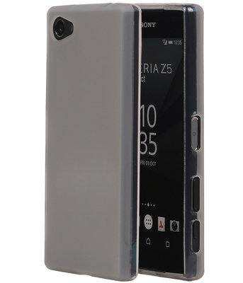 Sony Xperia Z5 Compact TPU Hoesje Transparant Wit