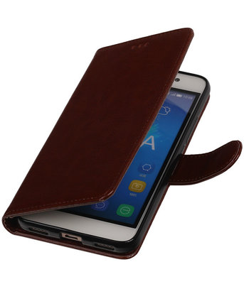 Bruin Smartphone TPU Booktype Hoesje voor Huawei Honor Y6 Wallet Cover