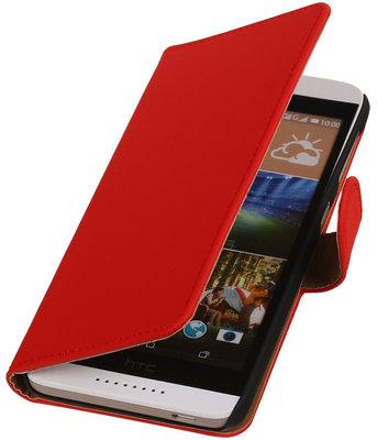 Rood Effen Booktype Hoesje voor HTC Desire 626 / 628 Wallet Cover