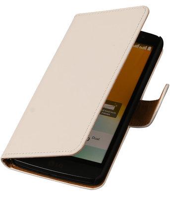 Hoesje voor LG G3 Mini Effen Booktype Wallet Wit