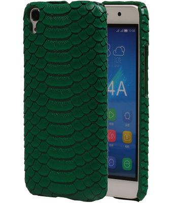 Groen Slang Hardcase Backcover Hoesje voor Huawei Honor Y6