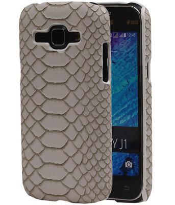 Beige Slang Hardcase Backcover Samsung Galaxy J1 2015 Hoesje