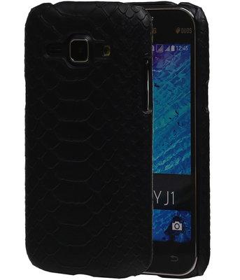 Zwart Slang Hardcase Backcover Samsung Galaxy J1 2015 Hoesje