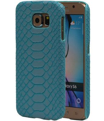 Blauw Slang Hardcase Backcover Hoesje voor Samsung Galaxy S6