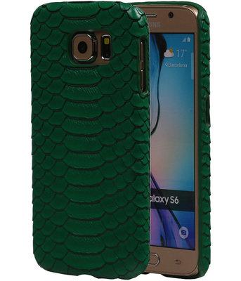 Groen Slang Hardcase Backcover Hoesje voor Samsung Galaxy S6