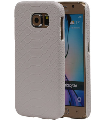 Wit Slang Hardcase Backcover Samsung Galaxy S6 Hoesje