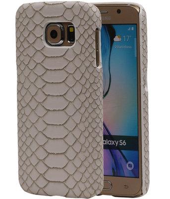 Beige Slang Hardcase Backcover Hoesje voor Samsung Galaxy S6
