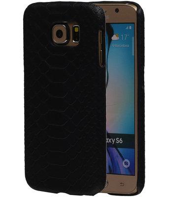 Zwart Slang Hardcase Backcover Hoesje voor Samsung Galaxy S6