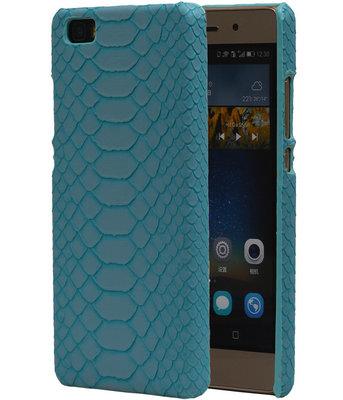 Blauw Slang Hardcase Backcover Hoesje voor Huawei P8 Lite