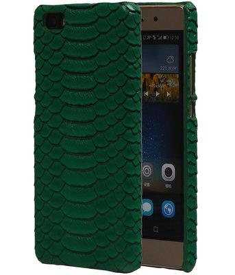 Groen Slang Hardcase Backcover Hoesje voor Huawei P8 Lite