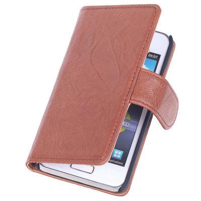 BestCases Bruin Echt Leer Booktype Samsung Galaxy S Duos S7562