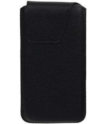 Samsung Galaxy A7 (2016) - Leder look insteekhoes/pouch Model 1 - Zwart i6P
