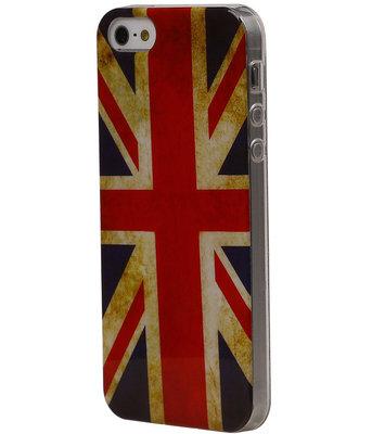 Britse Vlag TPU Cover Case voor Hoesje voor Apple iPhone 5C