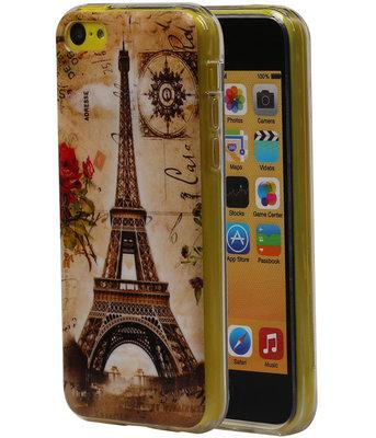 Eiffeltoren TPU Cover Case voor Hoesje voor Apple iPhone 5C